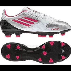 Adidas F10 Trx FG Women Silver-Pink Soccer Cleats